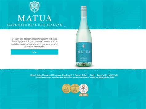 First Sweepstakes - matua taste the first sweepstakes