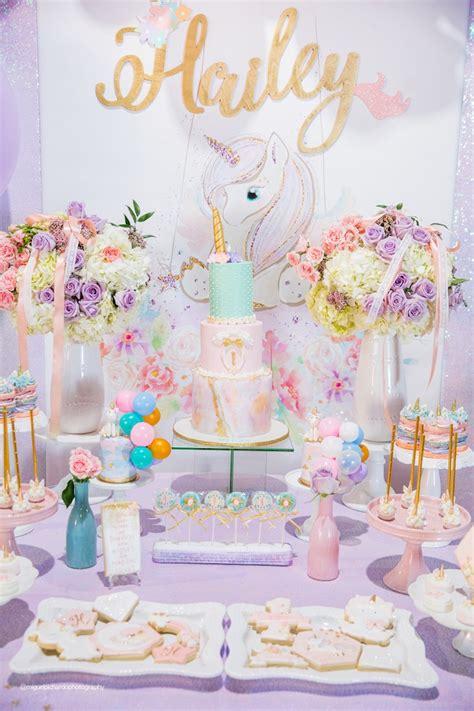 unicorn themed birthday party ideas kara s party ideas sparkly baby unicorn birthday party