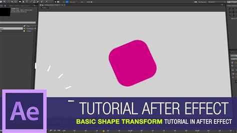tutorial after effect basic after effects tutorial basic shape transform tutorial in