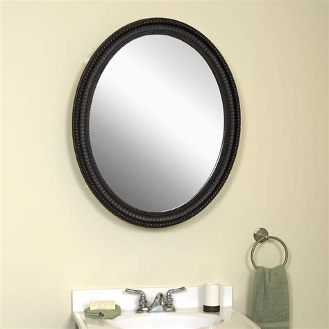 oval bathroom mirrors oil rubbed bronze zenith products oval mirror 25 quot x 32 quot medicine cabinet oil