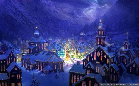 wallpaper christmas town christmas village background wallpapersafari