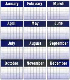 Month Of The Calendar Calendars Crystalinks