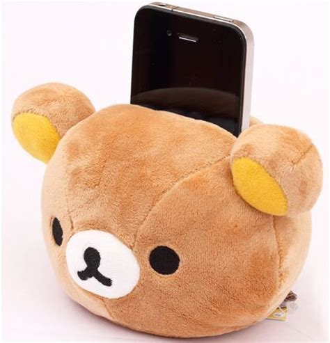 Sarung Bantal Cushion Japanese Doll kawaii rilakkuma plush cellphone holder brown