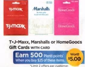 Rite Aid Amazon Gift Card - rite aid 25 tjmaxx marshall s or homegoods gift card for only 20 starting 10 29