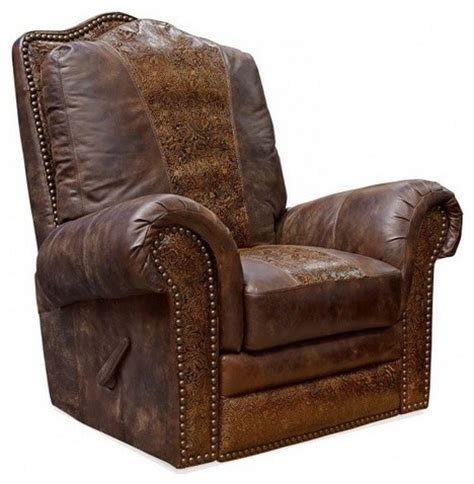 Sterling Chaparral Leather Recliner Rustic Recliner