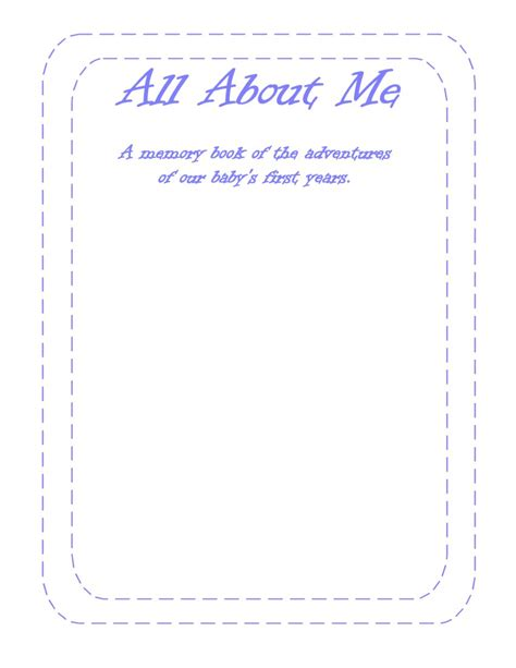 printable worksheets all about me 6 best images of free printable all about me form for high