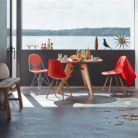 eames chair side table eames plastic side chair dsw connox