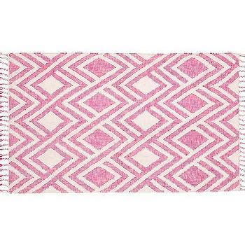 overstock pink rug moroccan dhurrie pink ivory wool rug 8 x 10 overstock