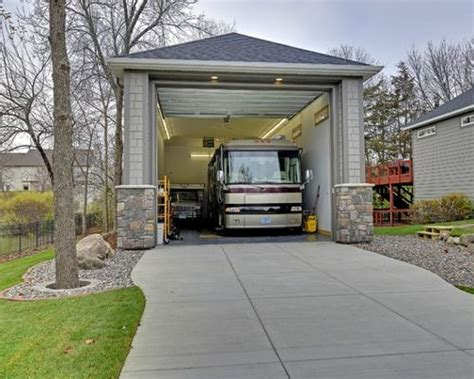 house with rv garage rv garage houzz