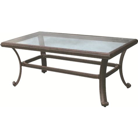 42 x 42 glass table top darlee 24 quot x 42 quot patio coffee table with glass top in