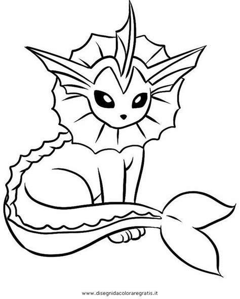 pokemon vaporeon coloring pages az coloring pages