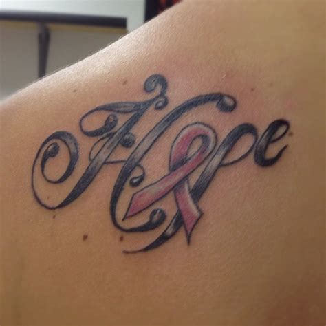 hope cancer tattoo designs breast cancer tattoos