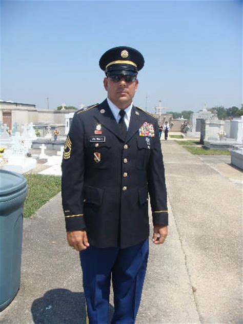 army dress blues set up