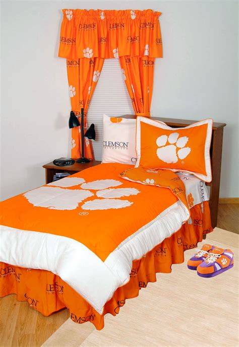 orange twin bedding clemson tigers comforter set twin x long reversible