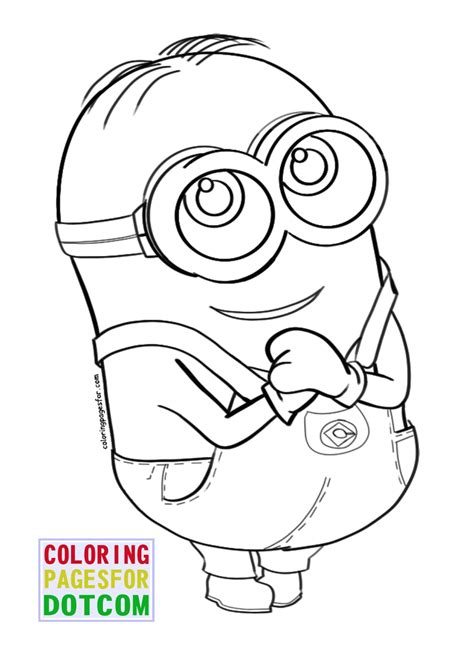 blank minion coloring page free printable minion coloring pages pinterest free
