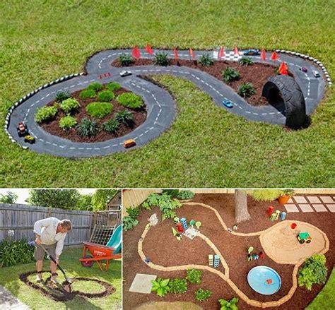 backyard cing diy race car track backyard projects for icreatived