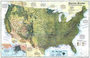 map of the united states with physical features united states the physical landscape map