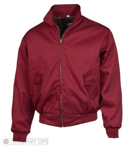Ar01 Eye Bomber Maroon harrington jacket bomber classic tartan lined g9 ska