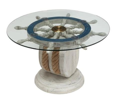 Ideas For Nautical Coffee Table Design Unique Wood Ship Wheel Nautical Theme From Things I Want