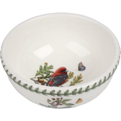 Portmeirion Botanic Garden Fruit Bowl Portmeirion Botanic Garden Birds Fruit Salad Bowl 14cm Scarlet Tanager Louis Potts