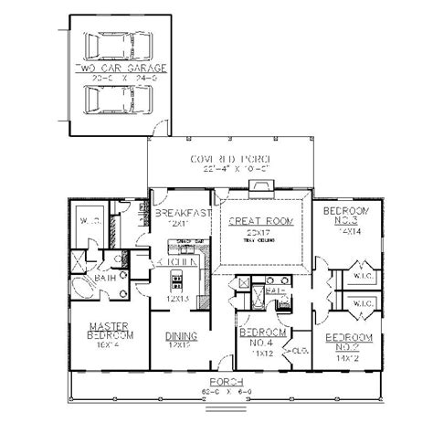 plantation house plans one story design layout photo