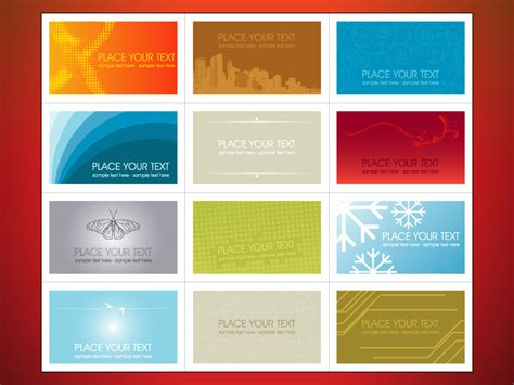 free visiting cards templates template for visiting card free 28 images variety of