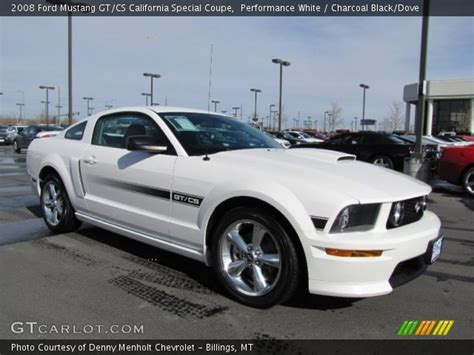 california special mustang 2008 performance white 2008 ford mustang gt cs california