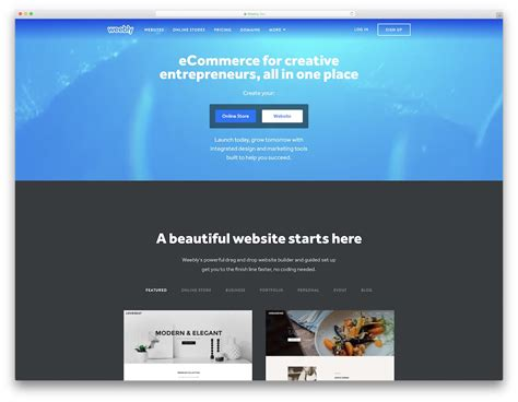 weebly drag and drop templates 18 best free drag and drop website builder software 2018
