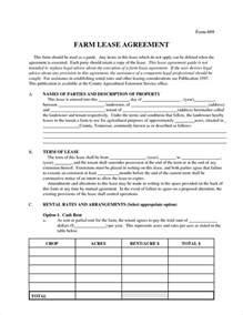 6 farm lease agreementreport template document report
