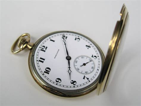 antique hamilton open gold pocket at 1stdibs
