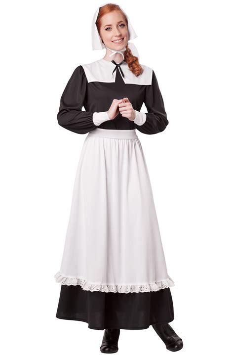 pilgrim woman settler adult costume purecostumescom