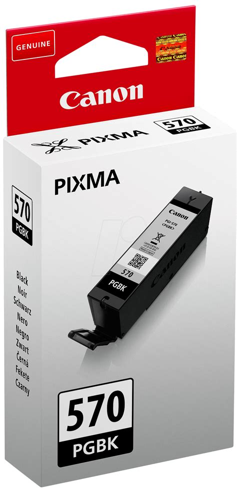 Original Canon Ink Cartridge Pgbk 725 Black pgi 570 pgbk ink 194 canon 194 black 194 pgi 570 pgbk 194 original at reichelt elektronik