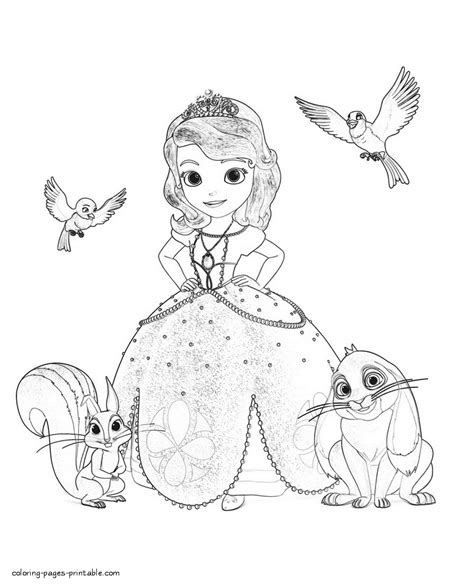 sofia coloring pages pdf princess sofia the first coloring pages princess sofia