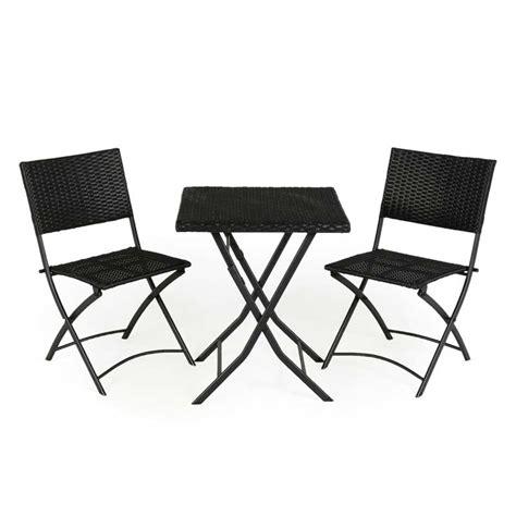 rattan effect folding chairs kingfisher rattan 2 folding chairs 60cm square bistro set