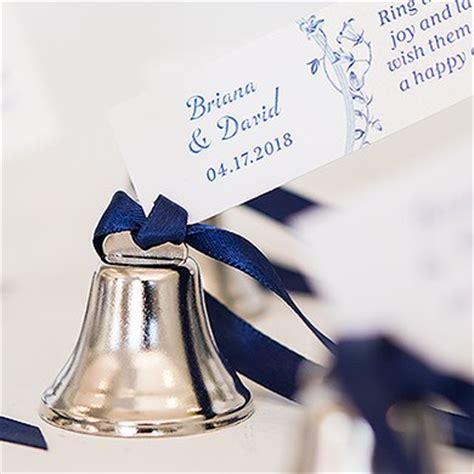 Wedding Bell Favours by Mini Wedding Bell Favours Confetti Co Uk