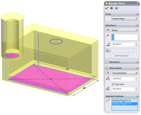 solidworks tutorial extrude boss base extrude feature learnsolidworks com
