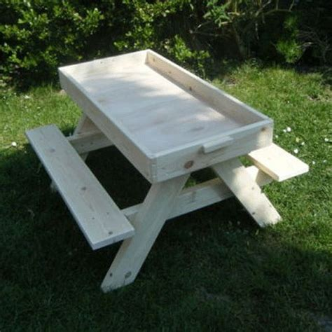 build your a picnic table with sandbox