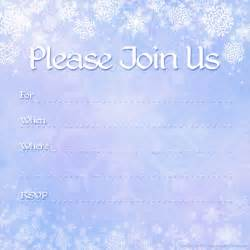 Inviation Templates by Free Printable Invitations Free Winter