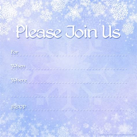 invites templates free printable invitations free winter