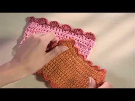 bordure en crochet pour armoire crochet facile 23 bordure de coquilles