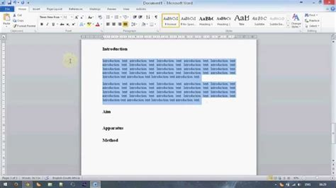 technical report templates microsoft word