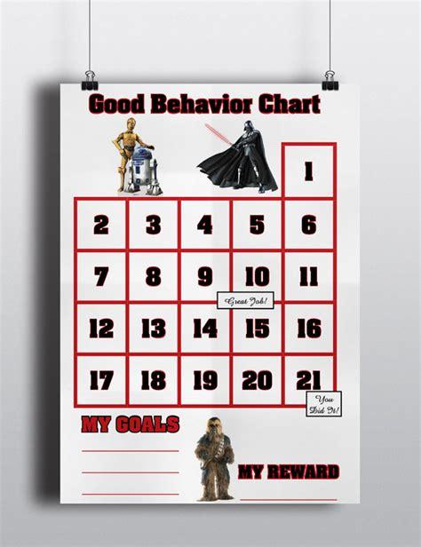 printable reward charts star wars star wars good behavior sticker chart incentive chart star
