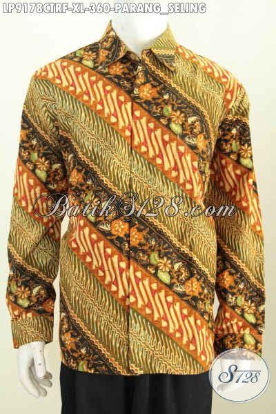 Parang Seling batik hem elegan motif parang seling baju batik klasik