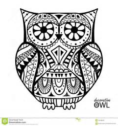hibou 233 coratif illustration vecteur image 40948029