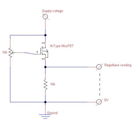 fet transistor verstärker circuits forum regelbare voeding met mosfet als spanningsvolger
