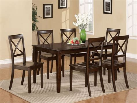 7 pc capri dinette kitchen dining room set table with 6 7 pc dining room dinette kitchen set table and 6 chairs