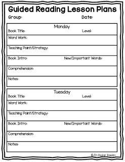kindergarten guided reading lesson plan template best 25 free lesson plan templates ideas on
