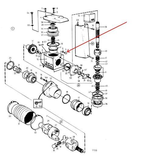 steps  changing   unit gear oil    volva penta stern drive