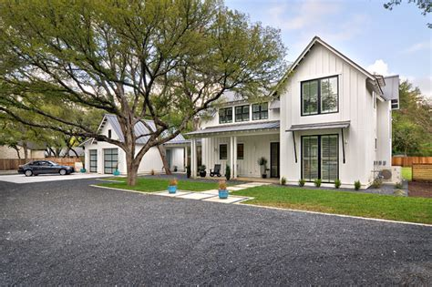 contemporary farmhouse modern farmhouse farmhouse exterior austin by