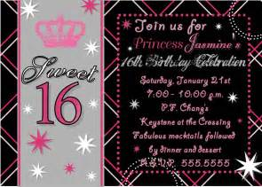 16th birthday invitations templates sweet 16th birthday invitations templates free